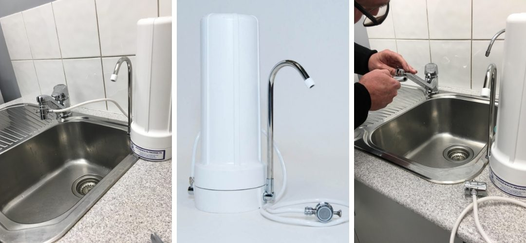 Countertop portable Freeflo Plus water filter